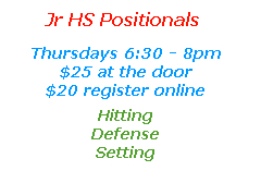"""<a href=""""http://www.texasimagevolleyball.com/thursday-jr-hs-positional-clinics/"""">Jr HS Positionals</a>"""