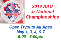 """<a href=""""http://www.texasimagevolleyball.com/2018-aau-jr-national-championships/"""">AAU Nationals</a>"""
