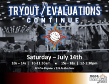 "<a href=""http://www.texasimagevolleyball.com/texas-image-tryouts/"">Evaluation Clinics</a>"