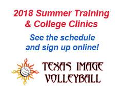 """<a href=""""http://www.texasimagevolleyball.com/programs/summer-camps-clinics/"""">2018 Summer Training</a>"""