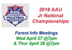 "<a href=""http://www.texasimagevolleyball.com/2016-aau-jr-national-championships"">2016 AAU Jr Nationals</a>"