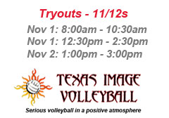 """<a href=""""http://www.texasimagevolleyball.com/texas-image-tryouts"""">11s and 12s!</a>"""