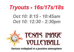"""<a href=""""http://www.texasimagevolleyball.com/texas-image-tryouts"""">Tryouts Page</a>"""