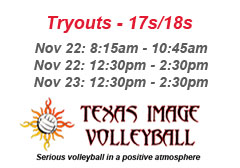 """<a href=""""http://www.texasimagevolleyball.com/texas-image-tryouts"""">17s/18s Tryouts!</a>"""