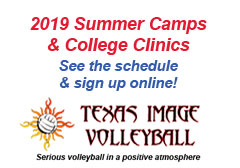 "<a href=""http://www.texasimagevolleyball.com/programs/summer-camps-clinics/"">2019 Summer Camps</a>"